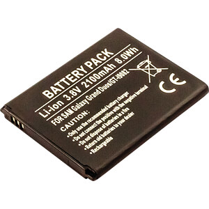 Smartphone battery for Samsung devices, Li-Ion, 2100 mAh FREI 13184