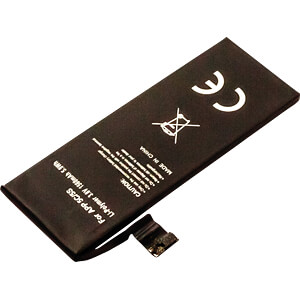 Smartphone battery for Apple iPhone 5S / 5C, Li-Po, 1560 mAh FREI 30706