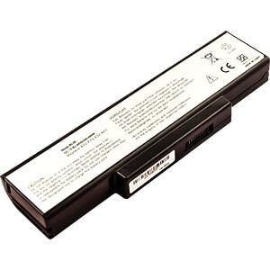 Notebook accu voor ASUS, Li-Ion, 4400 mAh FREI 53331