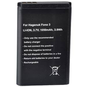 1050 mAh, Li-Ion for AEG Fono 3 FREI