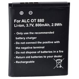 800 mAh, Li-Ion for ALCATEL Mini Rainbow FREI