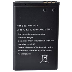 800 mAh, Li-Ion for BEA-FON S33 FREI