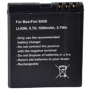 1000 mAh, Li-Ion for BEA-FON SL550 FREI