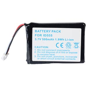 Cordless phone battery, Li-Ion 3,7 V, 500 mAh FREI