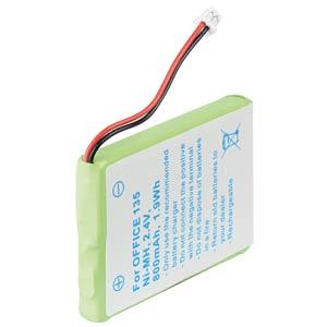 Cordless phone battery, NiMH, 2,4 V, 800 mAh FREI