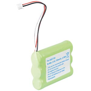 Cordless phone battery, NiMH, 3,6 V, 700 mAh FREI