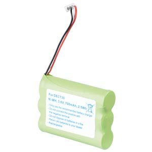 Cordless phone battery, NiMH, 3,6 V, 700 mAh FREI
