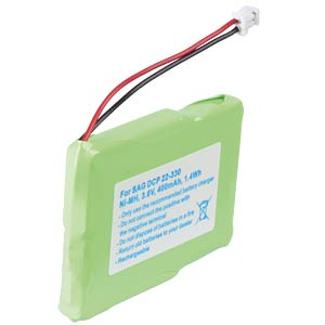 Cordless phone battery, NiMH, 3,6 V, 400 mAh FREI