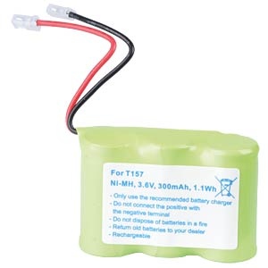 Cordless phone battery, NiMH, 3,6 V, 300 mAh FREI