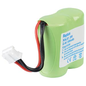Cordless phone battery, NiMH, 2,4 V, 300 mAh FREI