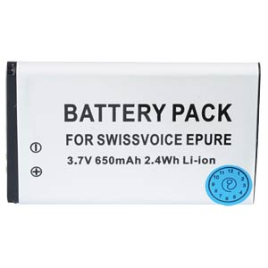 Cordless phone battery, Li-Ion 3,7 V, 650 mAh FREI