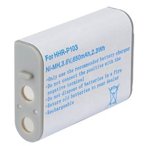 Cordless phone battery, NiMH, 3,6 V, 650 mAh FREI