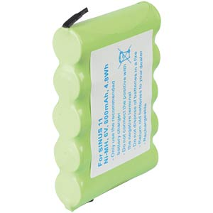 Cordless phone battery, NiMH, 6,0 V, 800 mAh FREI
