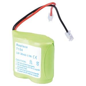 Cordless phone battery, NiMH, 2,4 V, 300 mAh FREI