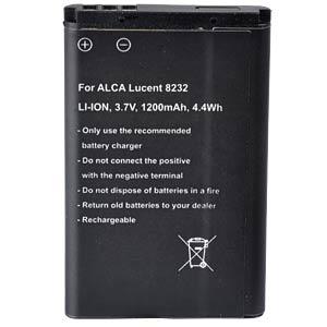Cordless phone battery, Li-Ion 3,7 V, 1200 mAh FREI