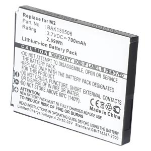 Cordless phone battery, Li-Ion 3,7 V, 700 mAh FREI