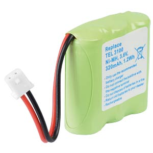 Cordless phone battery, NiMH, 3,6 V, 320 mAh FREI
