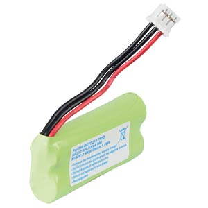 Cordless phone battery, NiMH, 2,4 V, 650 mAh FREI