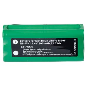 800 mAh, NiMH for DIRT DEVIL Libero M606 FREI