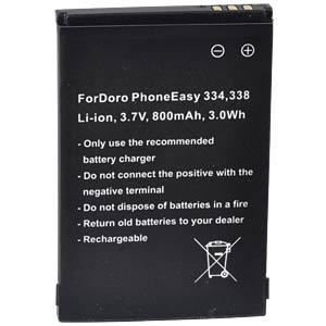 800 mAh, Li-Ion for DORO HandlePlus 334 FREI
