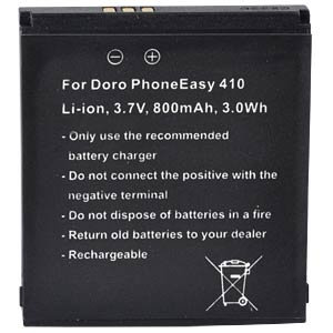 800 mAh, Li-Ion for DORO PhoneEasy 409 FREI