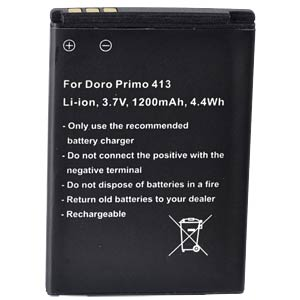 1200 mAh, Li-Ion for DORO Primo 413 FREI