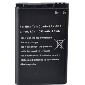 1050 mAh, Li-Ion for EMPORIA Essence plus FREI