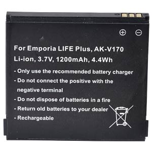 1200 mAh, Li-Ion for EMPORIA LIFE Plus FREI