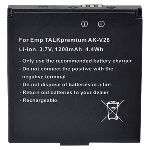 1200 mAh, Li-Ion for EMPORIA TALK Plus FREI