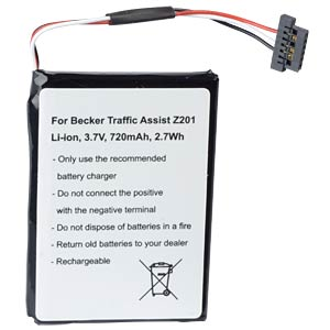 Navigationsgeräteakku, Becker Traffic Assist, Li-Ion, 720 mAh FREI