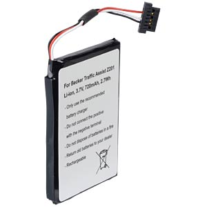 GPS Navigations-Akku für Becker Traffic Assist, 720 mAh FREI