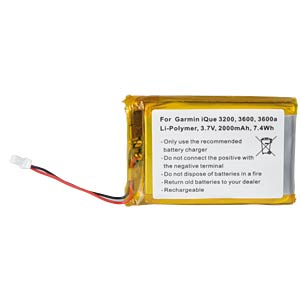 GPS navigation battery for Garmin iQue, 2000 mAh FREI