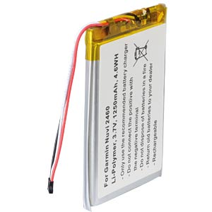 GPS navigation battery for Garmin Dezl, 1250 mAh FREI