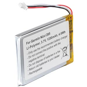 GPS navigation battery for Garmin Nüvi, 1250 mAh FREI