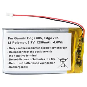 GPS navigation battery for Garmin Edge, 1250 mAh FREI