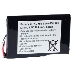 GPS navigation battery for Mitac Mio Moov, 900 mAh FREI