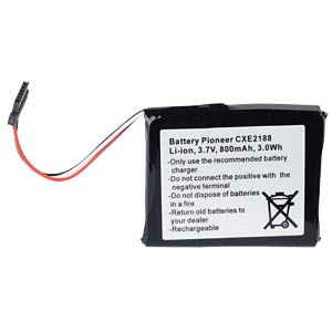 GPS navigation battery for Pioneer, 800 mAh FREI