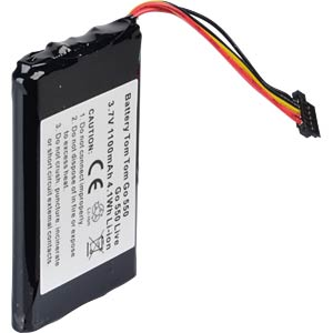 GPS navigation battery for TomTom Go550, 1100 mAh FREI