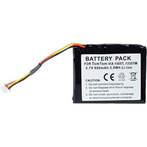 GPS navigation battery for TomTom VIA, 950 mAh FREI