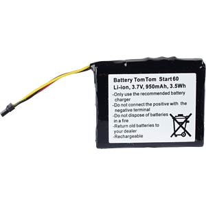 GPS navigation battery for TomTom Start 60, 950 mAh FREI