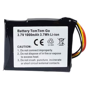 GPS navigation battery for TomTom Go1000, 1000 mAh FREI