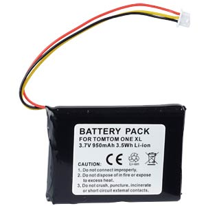 GPS navigation battery for TomTom One, 950 mAh FREI