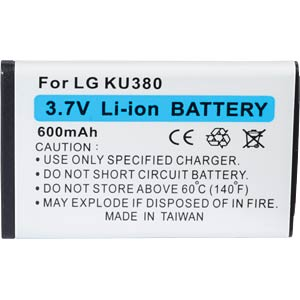 600 mAh, Li-Ion for LG CB630 FREI