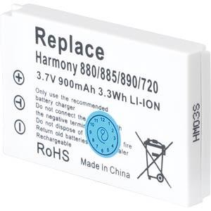 900 mAh, Li-Ion for LOGITECH Harmony 720 FREI