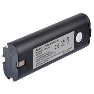 Replacement battery for MAKITA devices, 7,2 V, 2000 mAh FREI