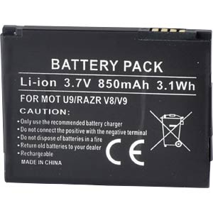 850 mAh, Li-Ion for MOTOROLA RAZR V8 FREI