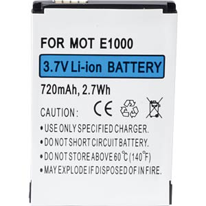 720 mAh, Li-Ion for MOTOROLA A1200 FREI