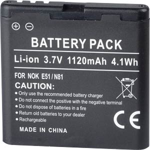 1120 mAh, Li-Ion for NOKIA 6720 FREI