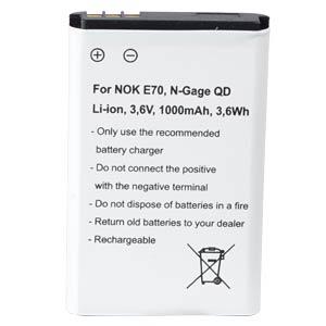 Ersatzakku für Nokia, E70 / HF-300 / N-Gage QD, Li-Ion, 1000 mAh FREI