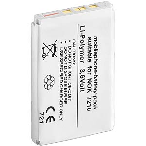 850 mAh, Li-Po, for NOKIA 2100 / 6610 FREI